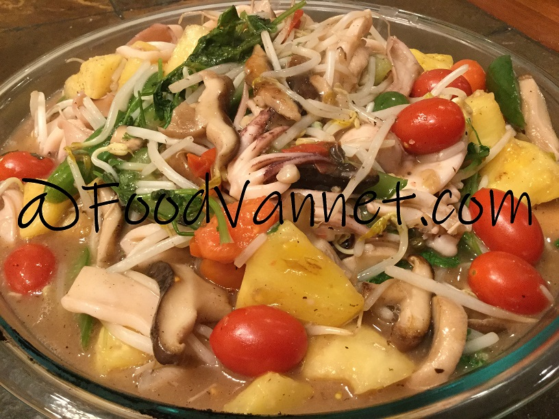Squid and Vegetable Stir Fry (Muc Xao Rau)